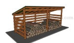 Simple firewood shed plans
