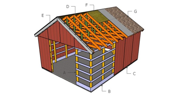 10 free storage shed plans howtospecialist how to for How to build a pole shed step by step