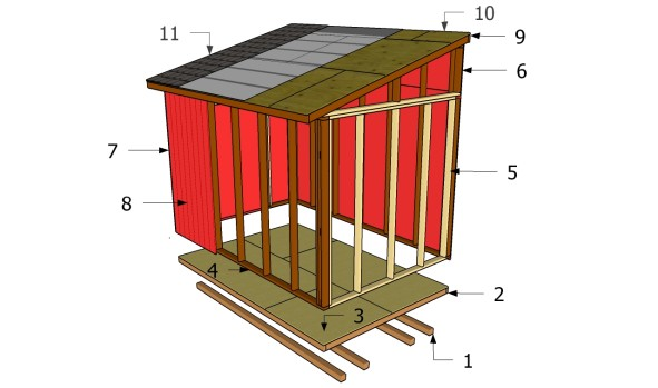 Building a lean to shed