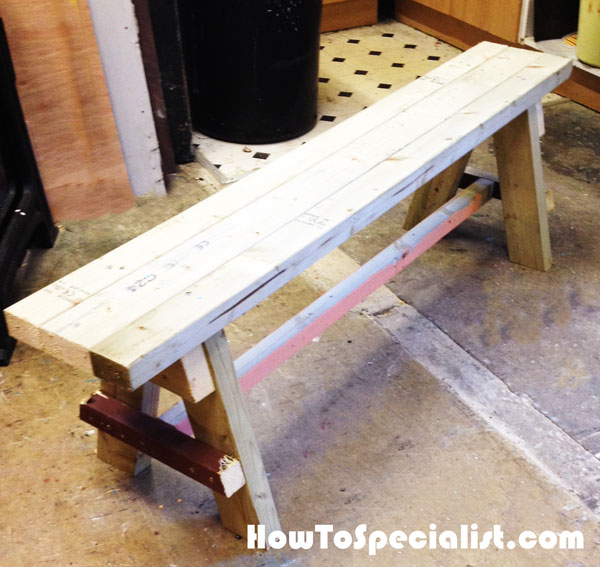 Diy Bench Seat Howtospecialist How To Build Step By