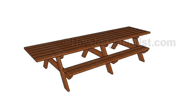 12 foot picnic table plans HTS