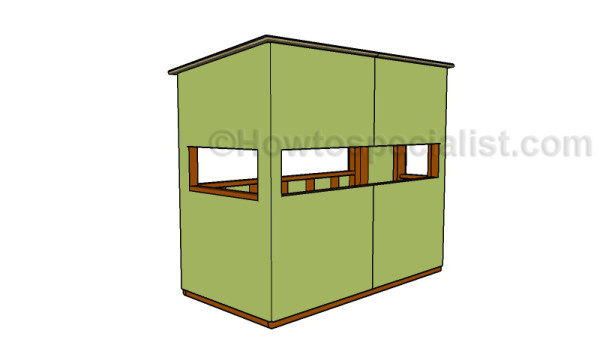 the gallery for deer blind plans 4x8