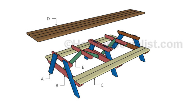 Building a 12' picnic table