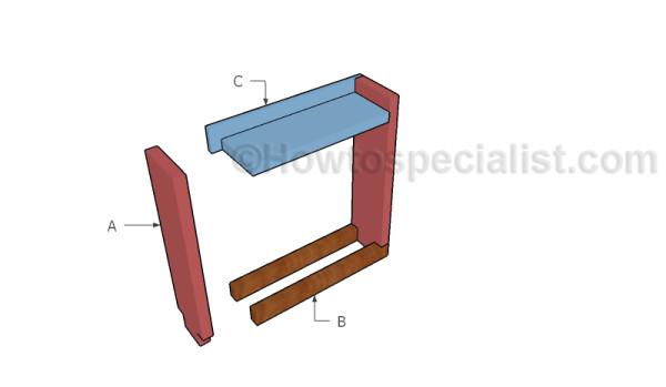 firewood indoor rack building build howtospecialist plans diy