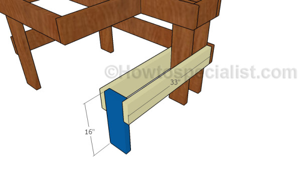 Fitting the bench leg