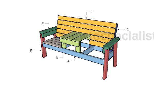 Building a double chair bench with table