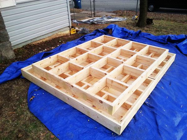 Building-a-floating-platform-bed