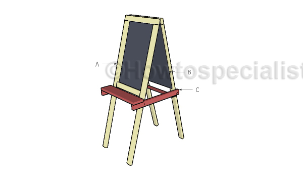 Building a folding kids easel