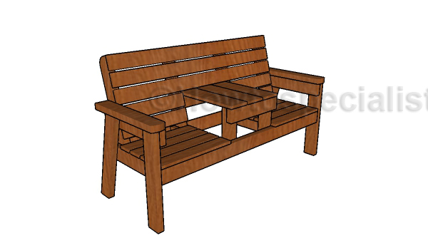 Double Chair Bench Plans Howtospecialist How To Build