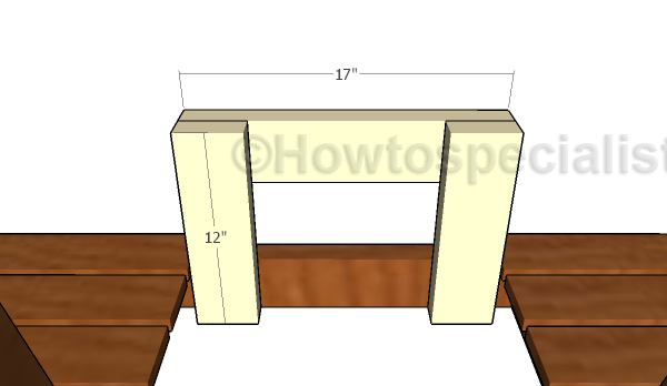 Front table supports