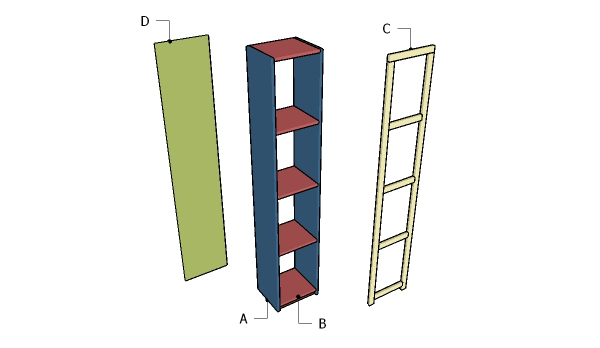 Building a bookshelf tower