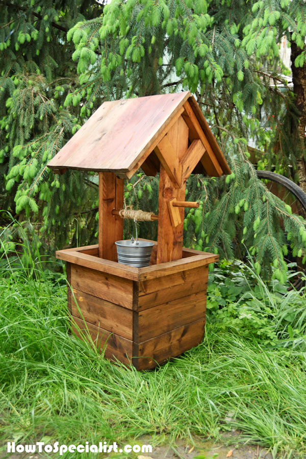 How To Build A Wishing Well Planter HowToSpecialist