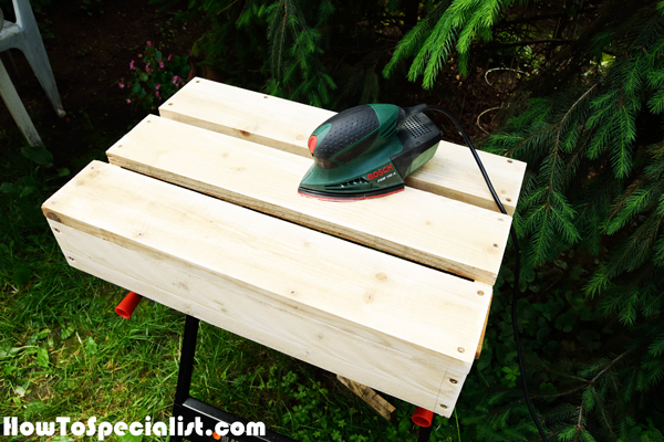 Sanding-the-tabletop