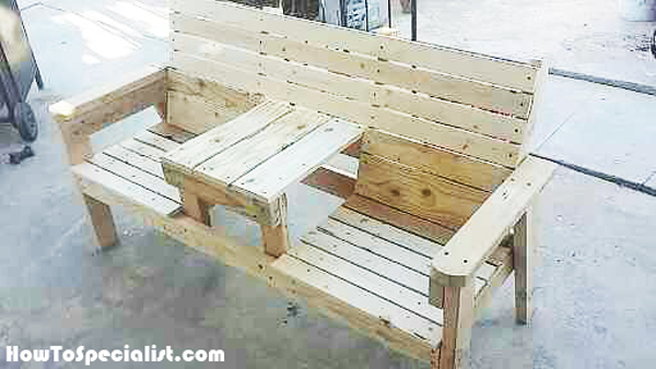 Diy Double Chair With Table Bench Howtospecialist How
