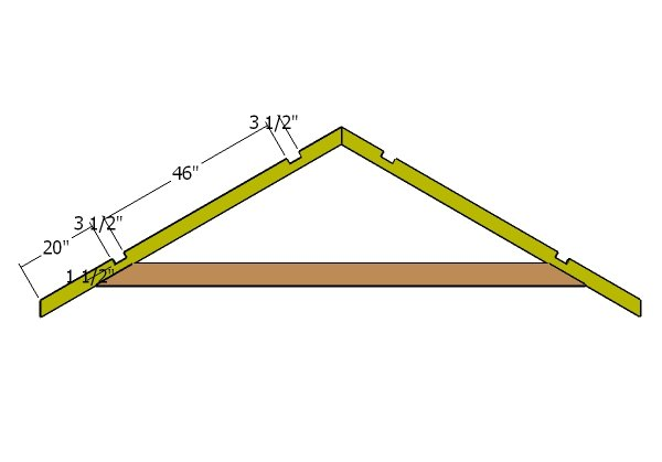 10x12 Gable Shed Roof Plans Howtospecialist How To