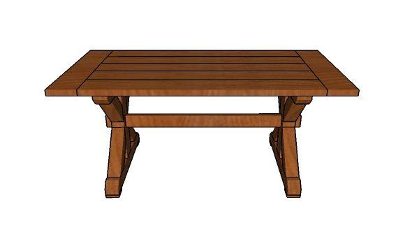 Free Farmhouse Table Plans: 6ft Farmhouse Table - Free DIY Plans