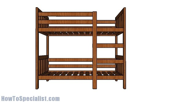 2x4 Bunk Bed Plans Howtospecialist How To Build Step