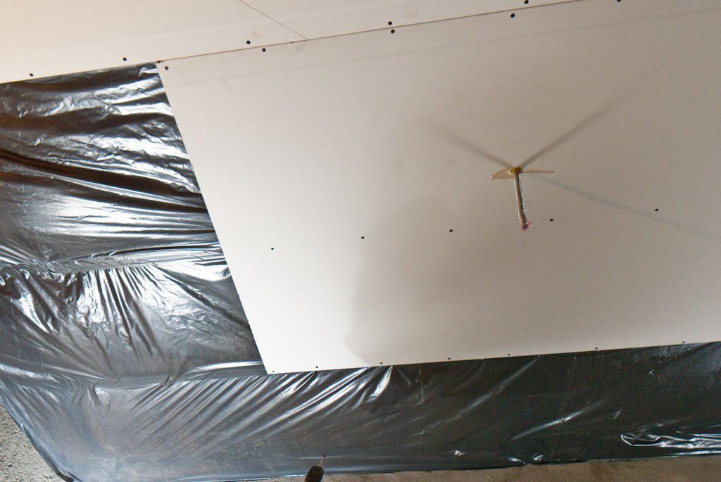 Installing Drywall Ceiling Boards Pattern