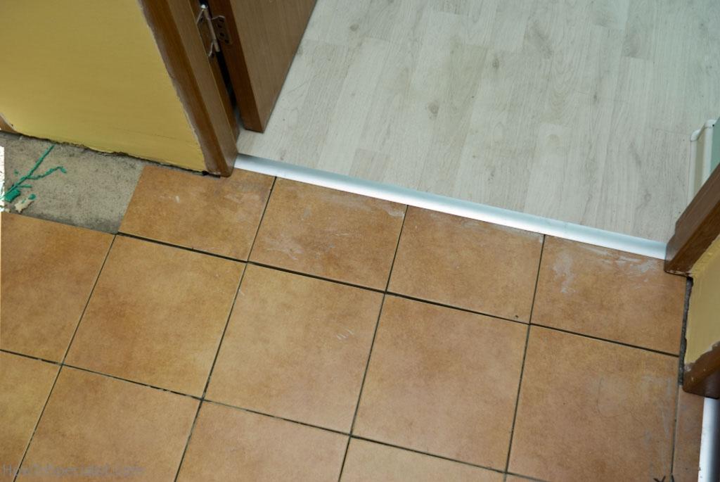 Ceramic tile to laminate floor transition meze blog for Ceramic tile laminate flooring