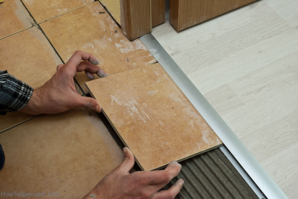 Installing Tile To Laminate Transition