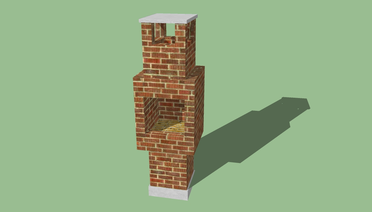 brick bbq plans with chimney outdoor barbeque designs howtospecialist how to build 384