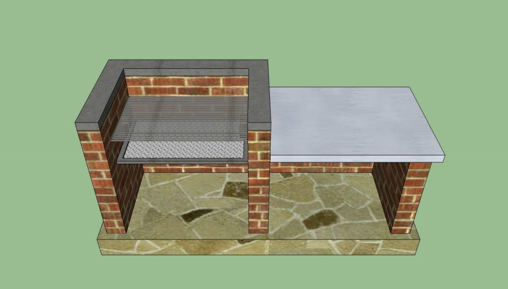 brick bbq plans pdf outdoor barbeque designs howtospecialist how to build 508