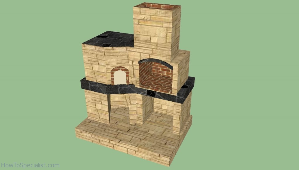 brick bbq plans pdf brick oven plans howtospecialist how to build step by 508