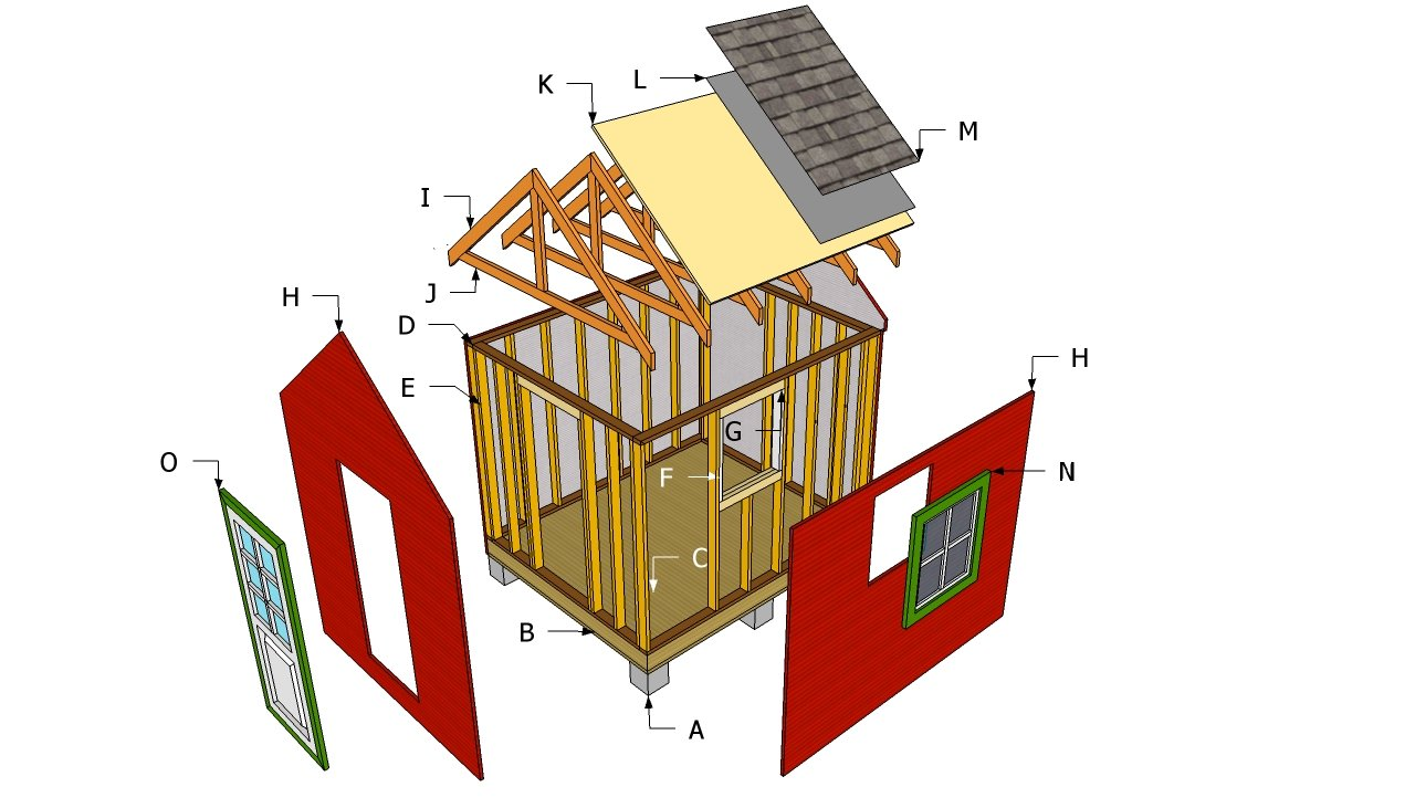 Garden shed plans free | HowToSpecialist - How to Build ...