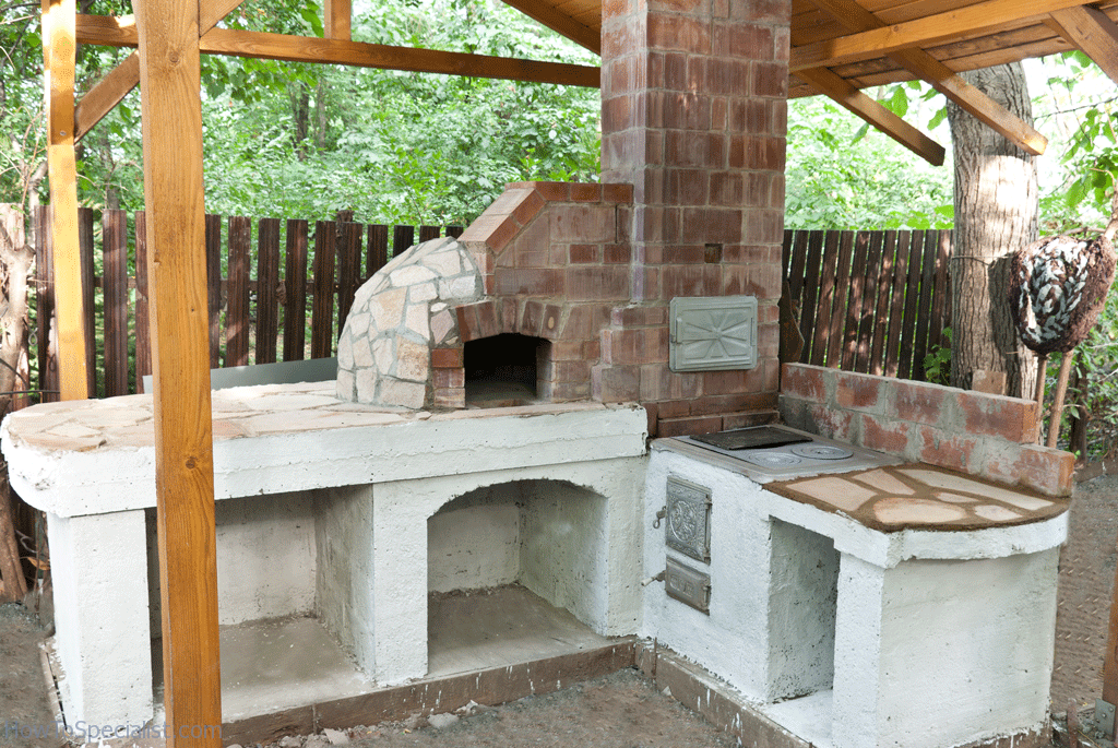 How To Finish The Base Of A Pizza Oven