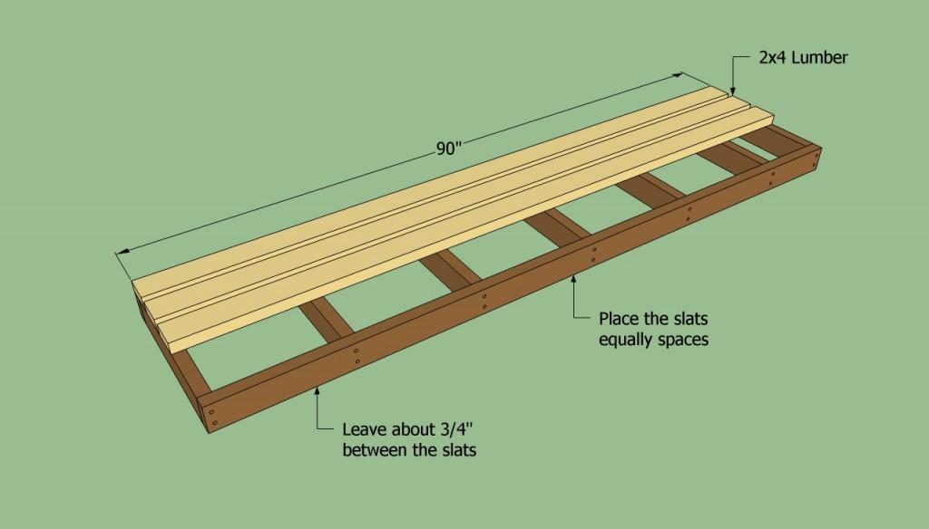 Installing the flooring slats