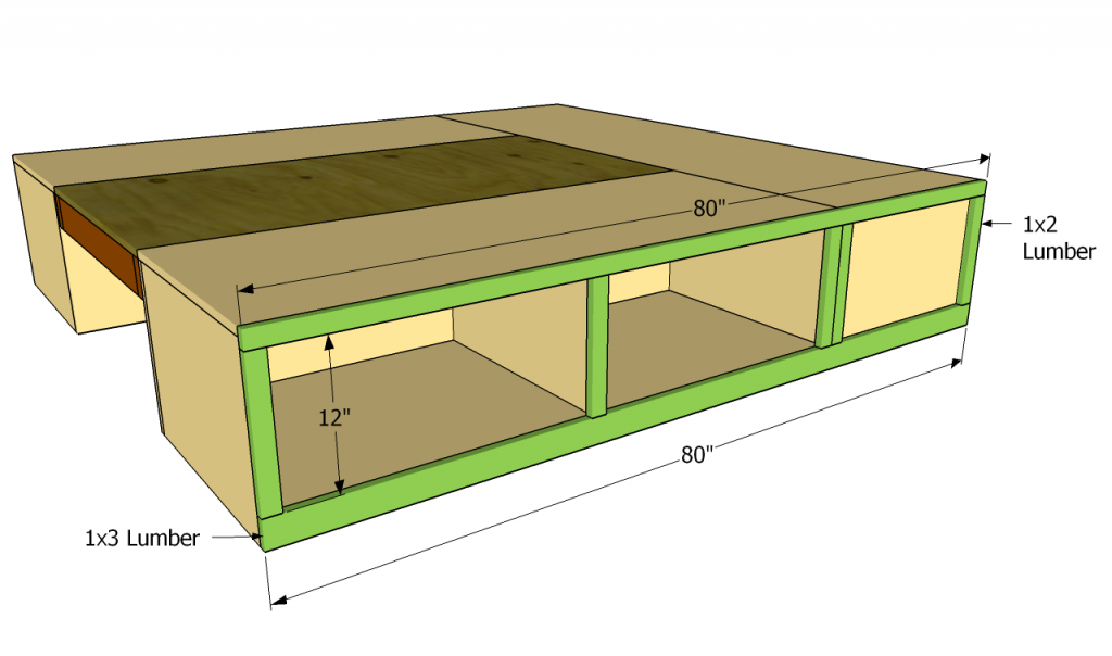 How To Build A Storage Bed Frame Howtospecialist How To Build Step By Step Diy Plans