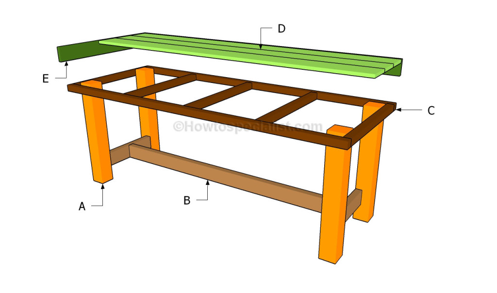 How To Build A Patio Table Howtospecialist How To Build Step By Step Diy Plans