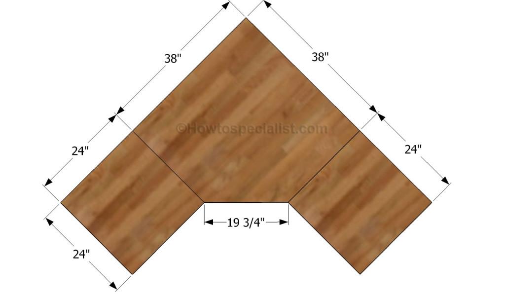how to build a corner desk howtospecialist step - Desk Design Plans