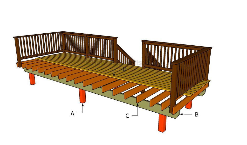 front porch plans free how to build a front porch howtospecialist how to 17802