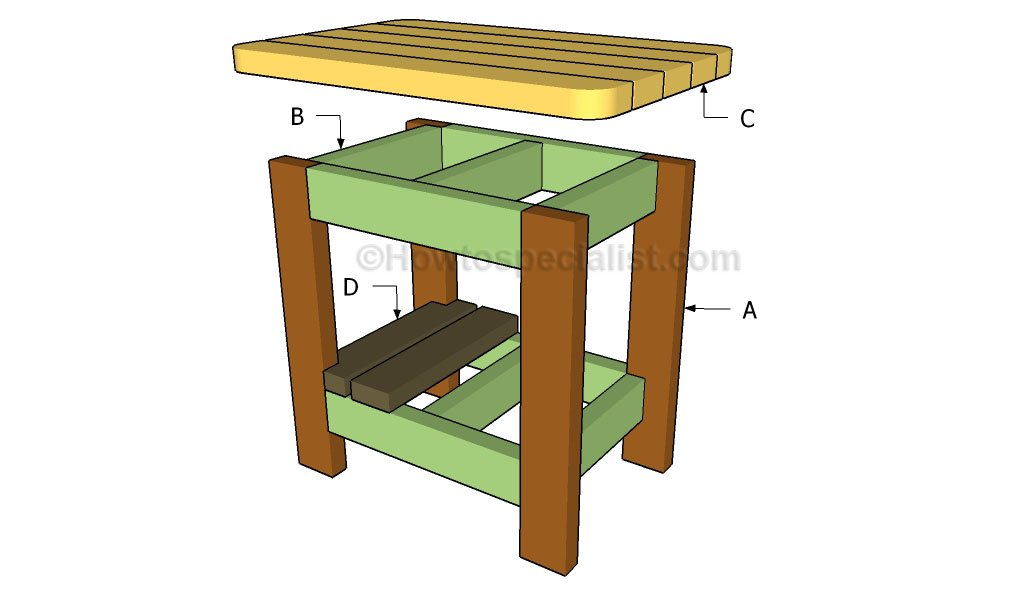Outdoor side table plans | HowToSpecialist - How to Build ...