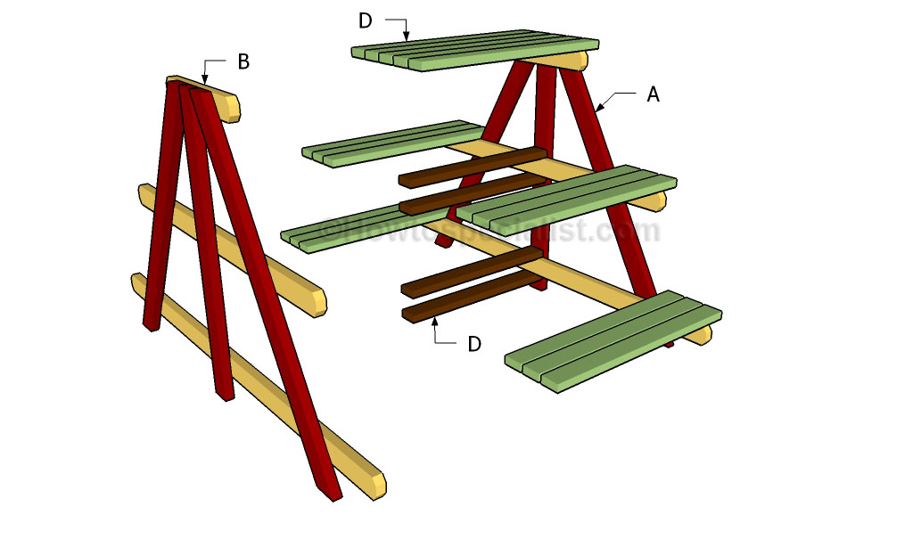 A Frame Plant Stand Plans Howtospecialist How To Build Step By Step Diy Plans