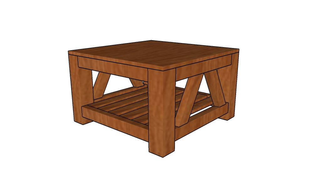 Free Coffee Table Plans | HowToSpecialist - How to Build ... on Coffee Table Plans  id=34840