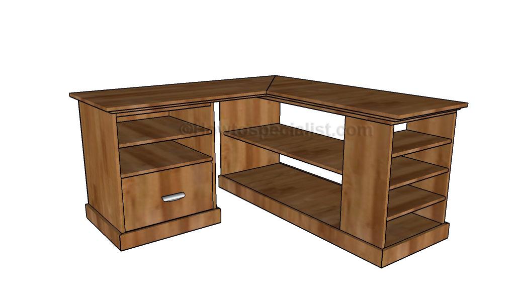 corner desk plans | howtospecialist - how to build, stepstep diy