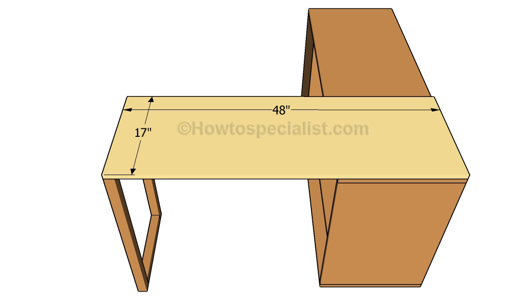 Office Desk Plan Howtospecialist Build Step Step Diy Plan Easy DIY L Shaped Desk