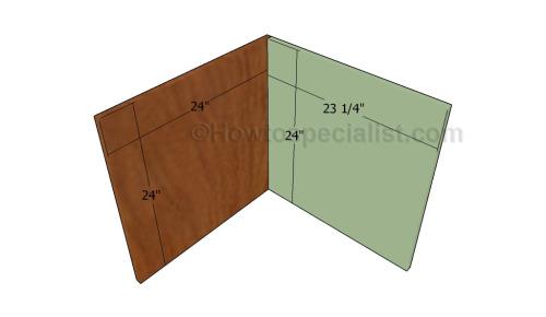 Building The Frame Of Corner Cabinet