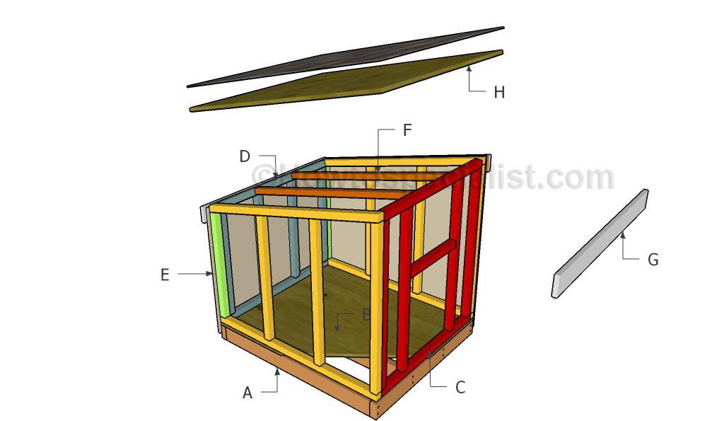 Large Dog House Plans Howtospecialist How To Build Step By