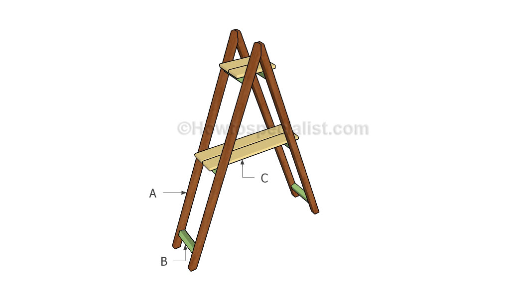 Building ladder shelves