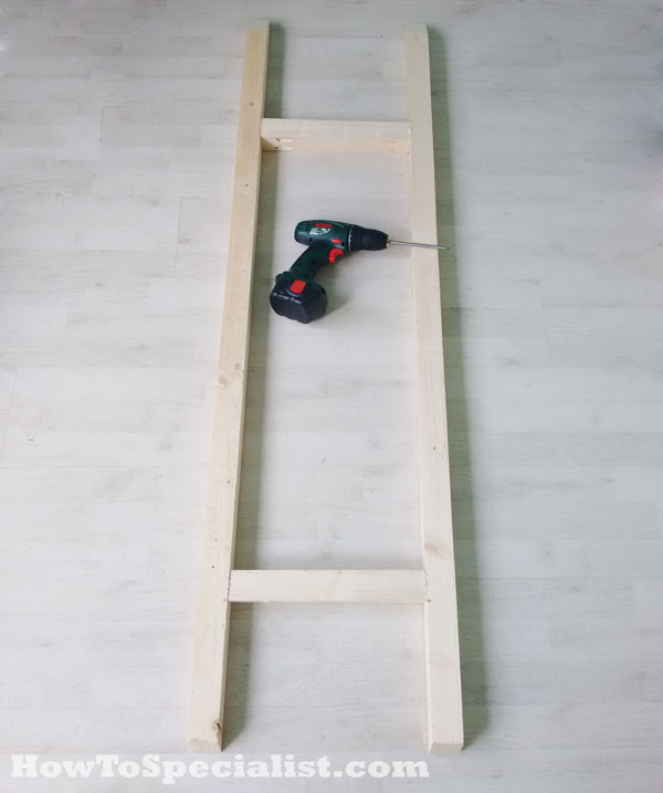 Building-the-sides-of-the-ladder