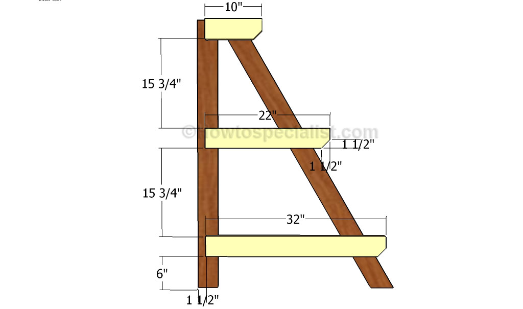 How To Build A Tiered Plant Stand Howtospecialist How To Build Step By Step Diy Plans