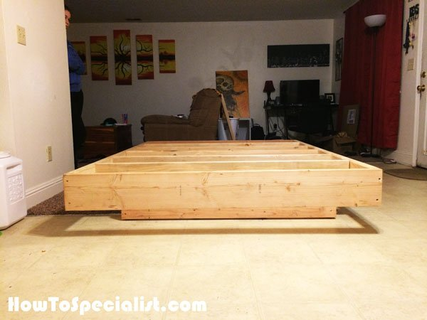 diy floating bed diy size floating bed howtospecialist how to 11845