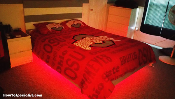Diy Led Floating Bed Plans Howtospecialist How To
